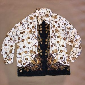 Versace inspired blouse vintage size 14